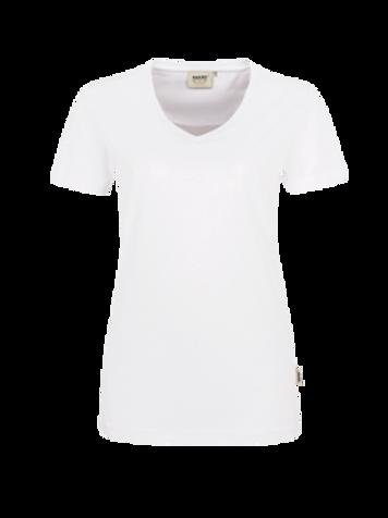 T-Shirt V-Hals weiss for women