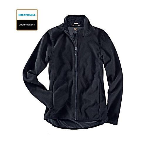 Fleece Jacke Damen black