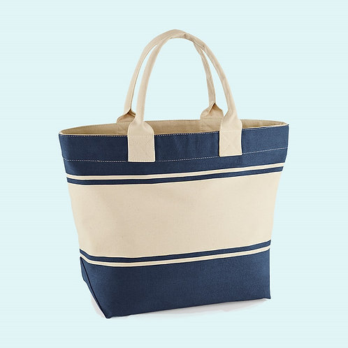 Canvas deck bag navy/white