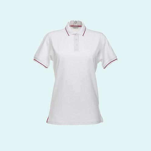 St Mellion polo for women white/red