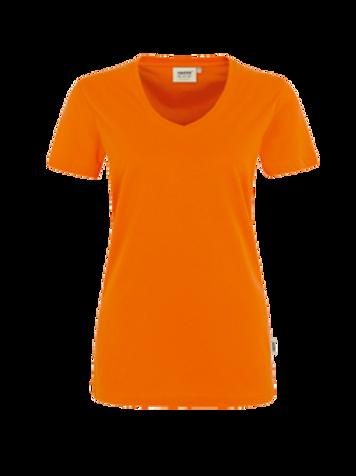 T-Shirt V-Hals orange for women