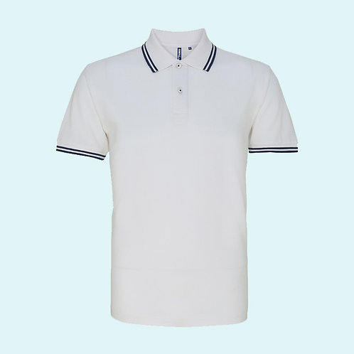 Men's classic fit - tipped polo white/navy