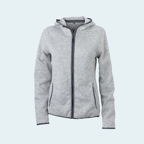 Damen Strickfleecejacke light-melange/carbon AC