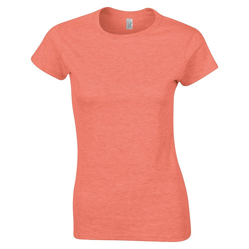 T-Shirt heather orange for women