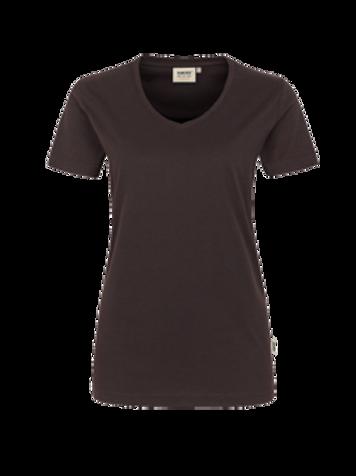 T-Shirt V-Hals schokolade for women