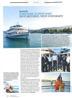 Uniformen für Zürichsee Schifffahrtsgesellschaft (ZSG) von Image Wear AG - Seesicht