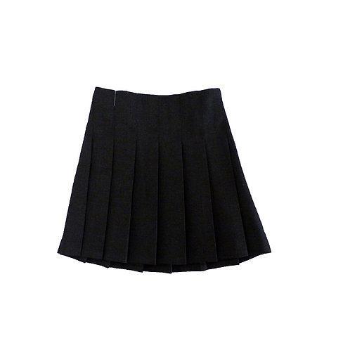 Junior Stitch Down Pleat Skirt Harrow Grey