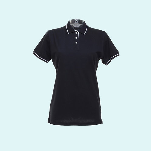 St Mellion polo for women navy/white