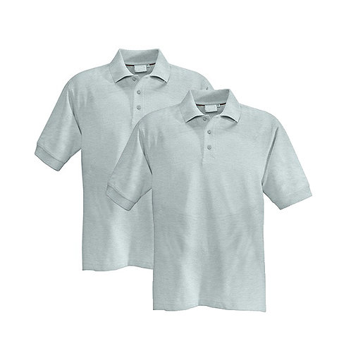2er Pack Poloshirt Herren hellgrau