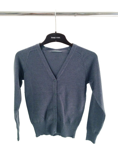 Cotton Blend Cardigan marl grey