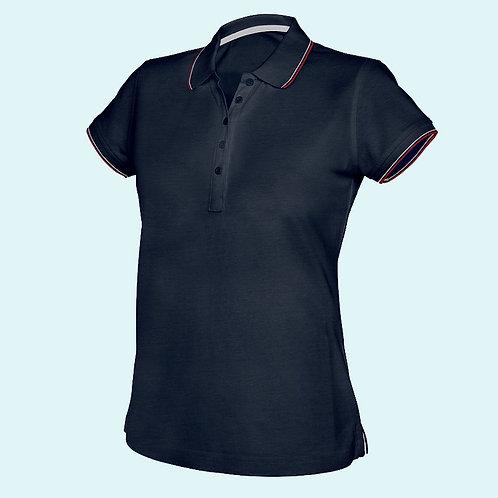 Short sleeve polo shirt for women navy
