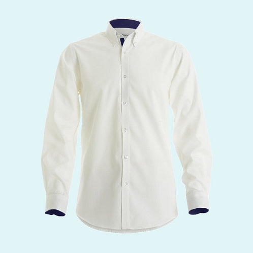Contrast premium oxford shirt white/navy