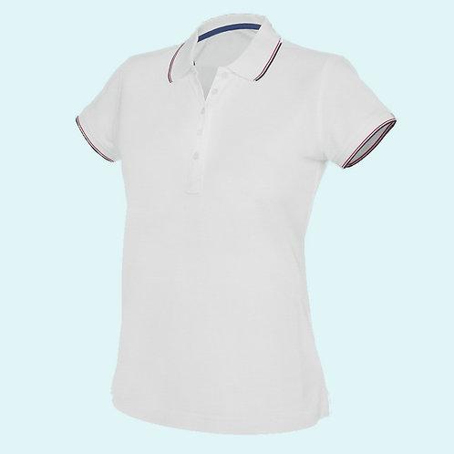 Short sleeve polo shirt for women white