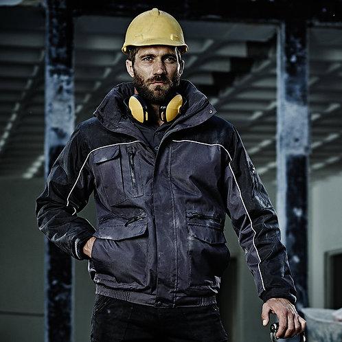 Condenser heavy duty bomber jacket navy/black
