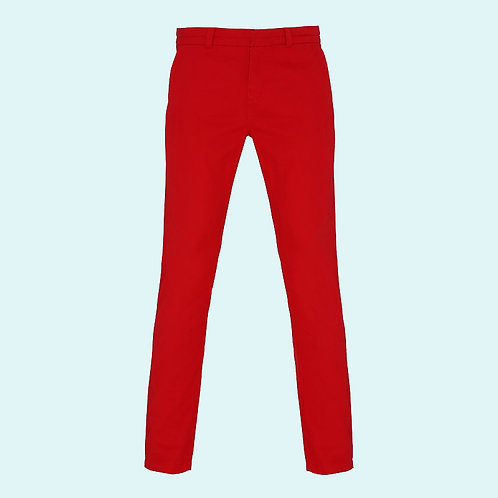 Damen Chino Hosen cherry red