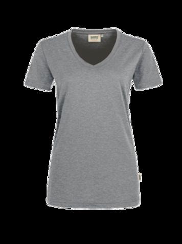 T-Shirt V-Hals grau meliert for women