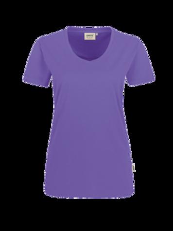 T-Shirt V-Hals lavendel for women