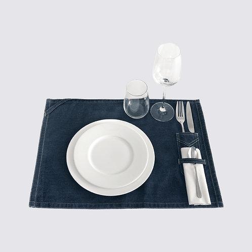 Tisch-Set aus DENIM