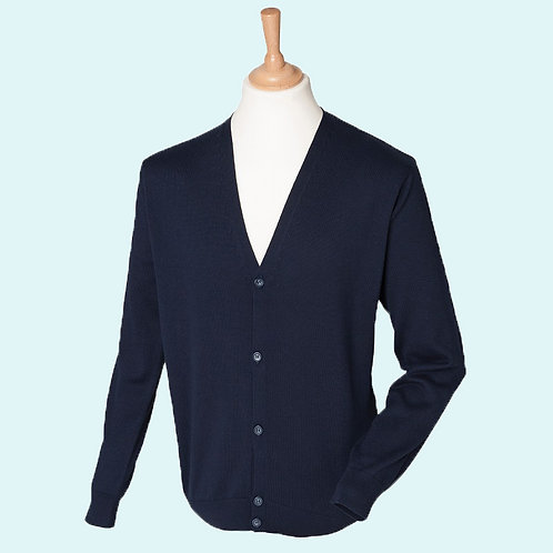 Men's v button cardigan navy