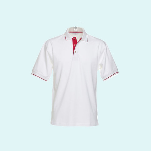 St Mellion polo for men white/red