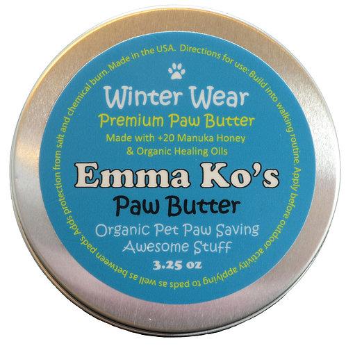 Winter Wear Premium Paw Butter 3.25 oz Paw Size Tin