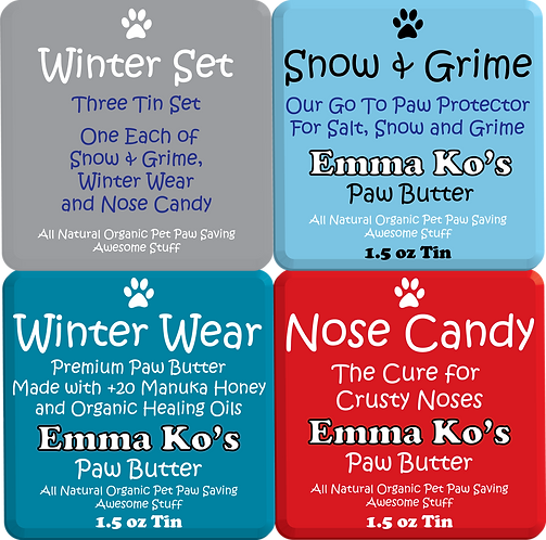 Winter Set - One Tin of Each Snow & Grime, Winter Wear and Nose Candy