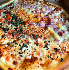 Half & Half: Margherita & Hawaiian