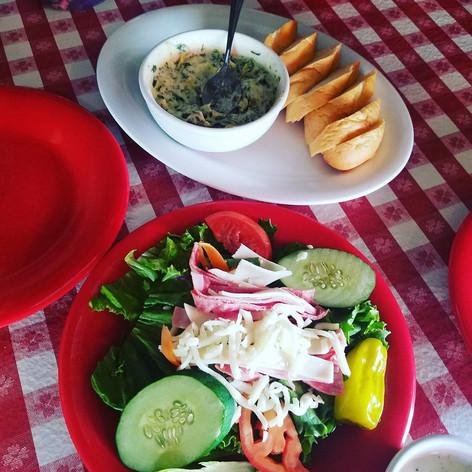 Antipasto with Spinach & Artichoke Dip