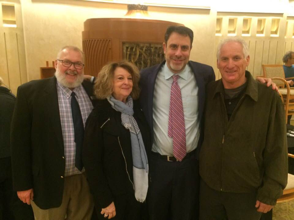 Steven Reece, Donna Kanter, Rabbi Peter Berg, and Fred Zaidman