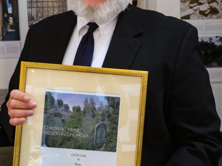 "TMF President Steven Reece Recipient of ""Preserving Memory"" Award"