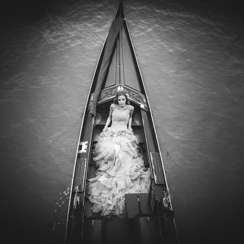 matrimonio gondola fotografo