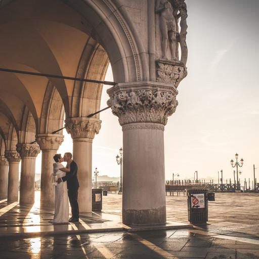 matrimonio all' alba a venezia