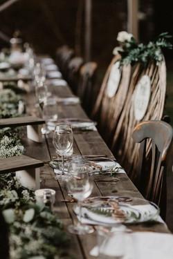 table setting weddings