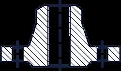 Тип 11 - Фланец стальной приварной встык
