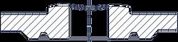 Исполнение J - Под прокладку овального с