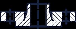 Тип 04 - Фланец стальной плоский свободн