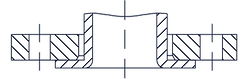 Тип 03 - Фланец стальной плоский свободн