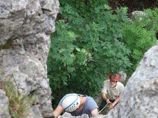 Klettern am Wiesfels