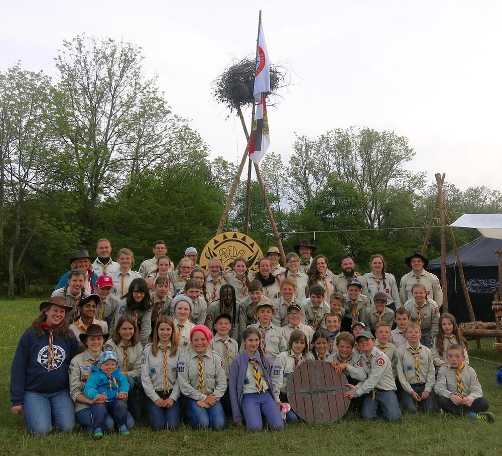 Alle Teilnehmer von unserem Stamm