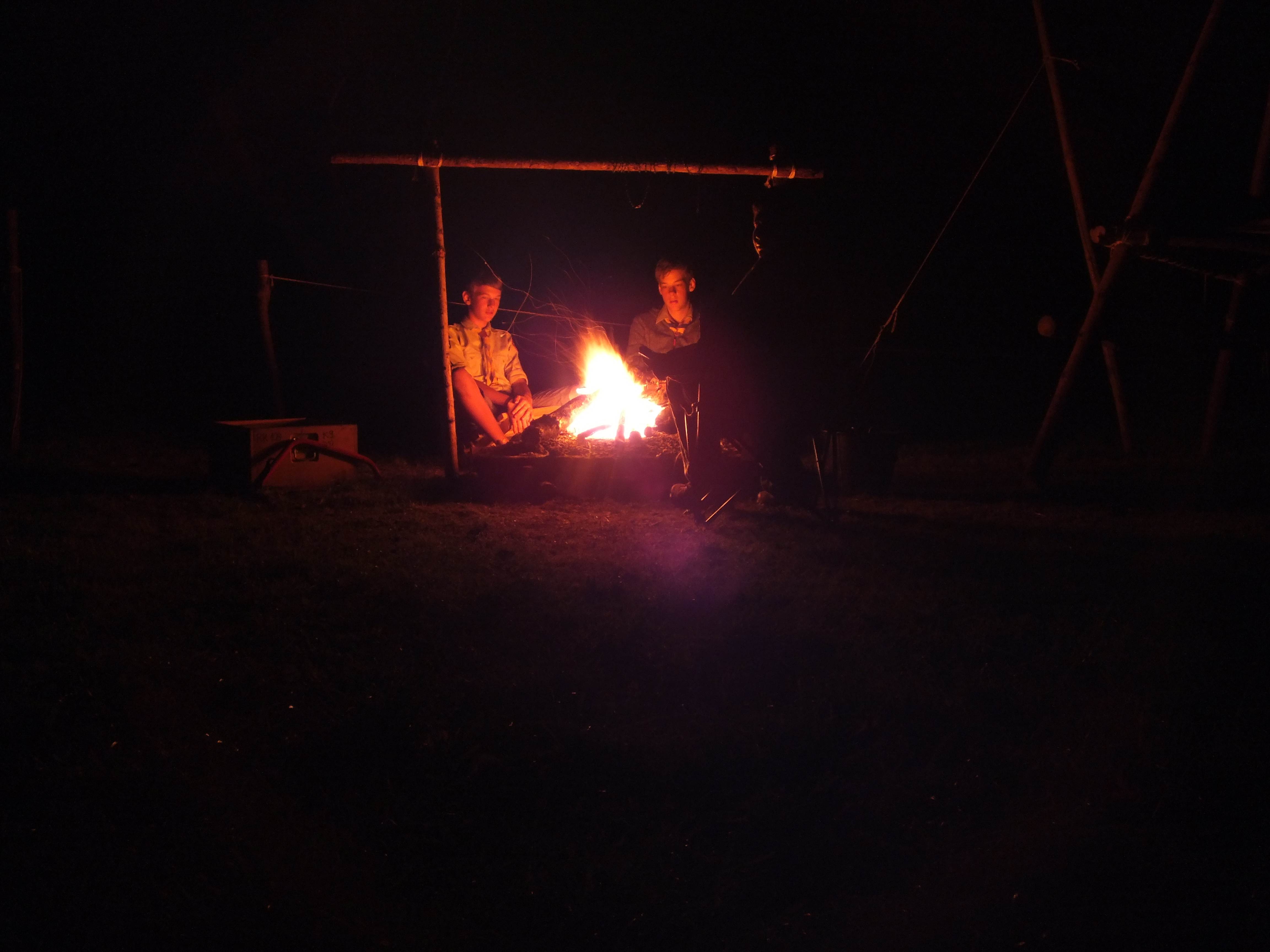 Entspannen am Feuer