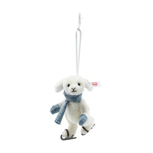Rabbit on ice skates ornament 007149
