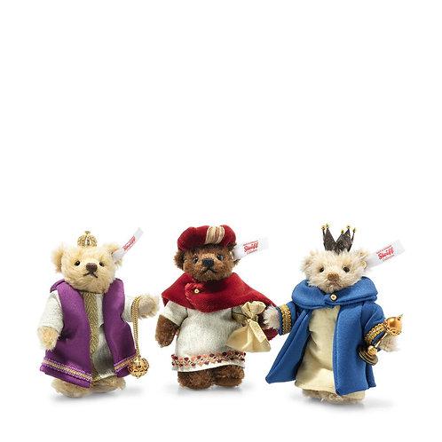 Holy Three Teddy Bear Kings Nativity Set 007064