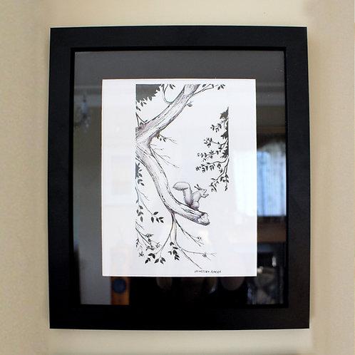 'Squirrel' Framed - by Arina