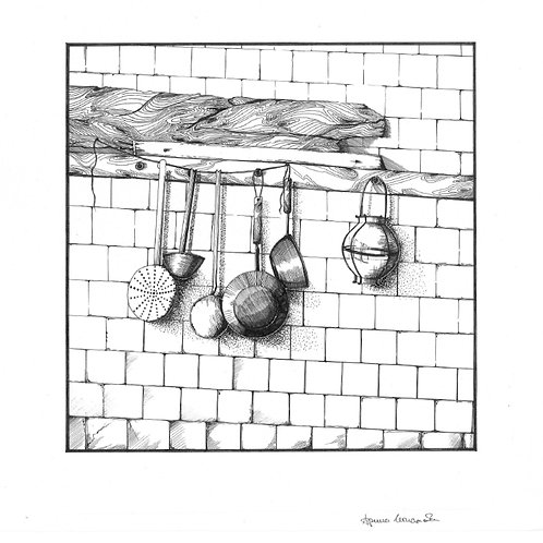 Kitchen Utensils (unframed)