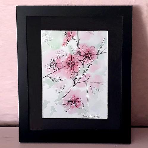 Pink Flowers (framed)