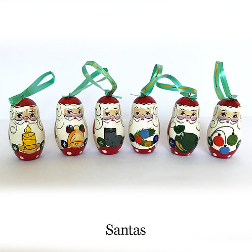 Set of 6 Christmas Tree Decorations