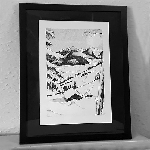 House in Snow (Framed/Unframed)