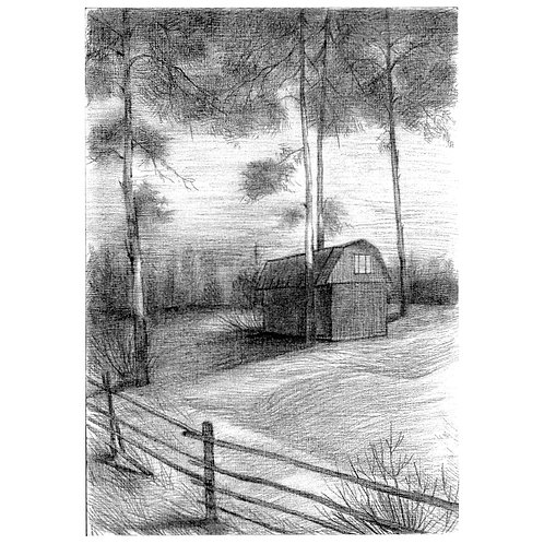 House in Woodland (unframed)
