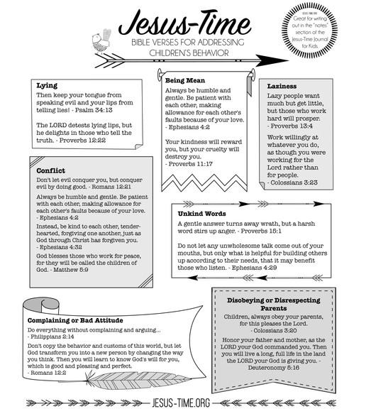 Verses for Kids Behavior