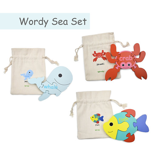 The Wordy Sea Puzzle Set